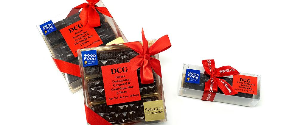 DCG - Dacquoise, Caramel, Gianduja Snack Bar