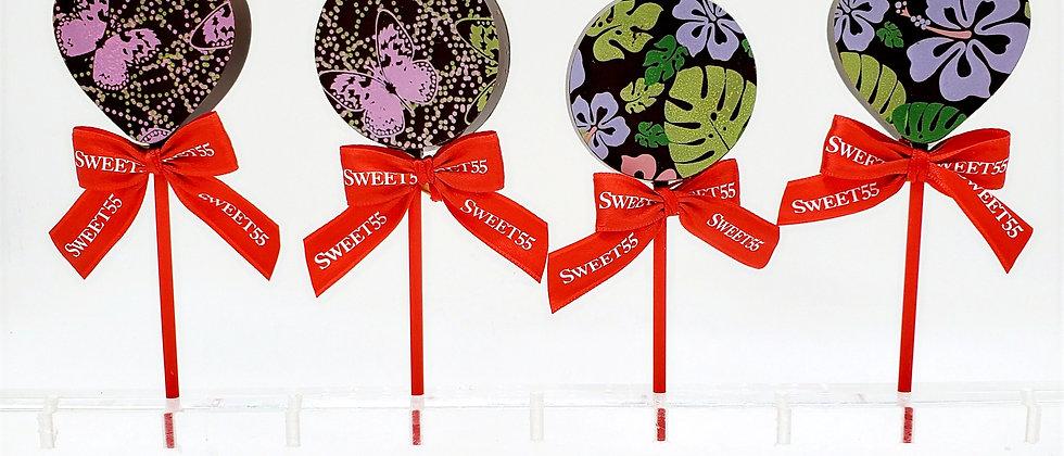 Lollipops with flowers or butterflies