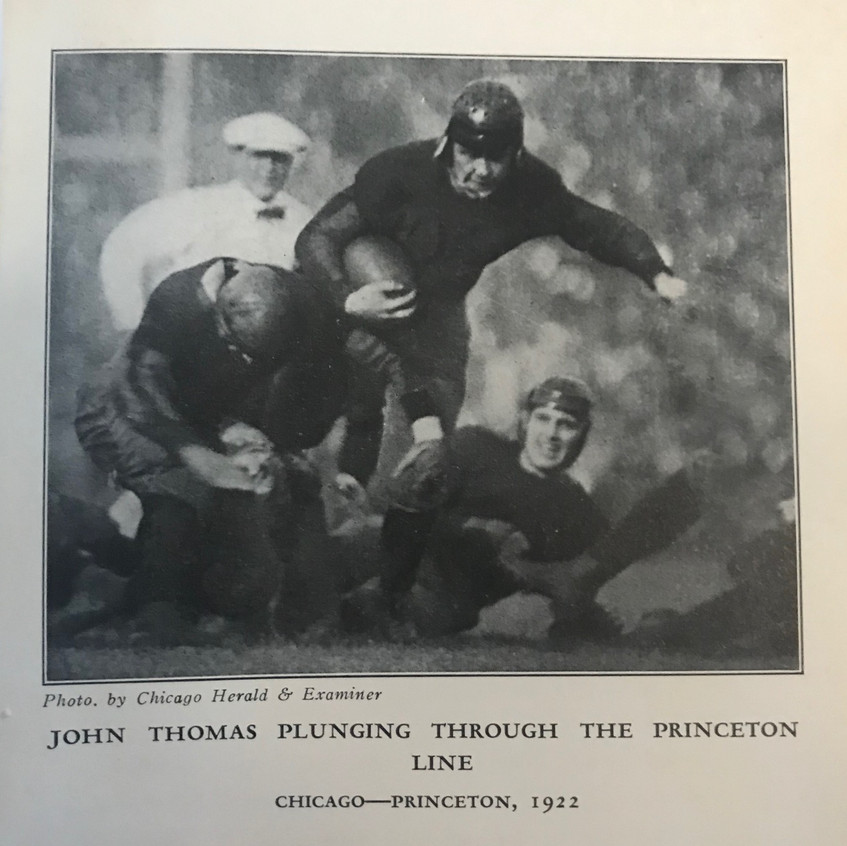 1927 Stagg Book John Thomas RB vs Prince