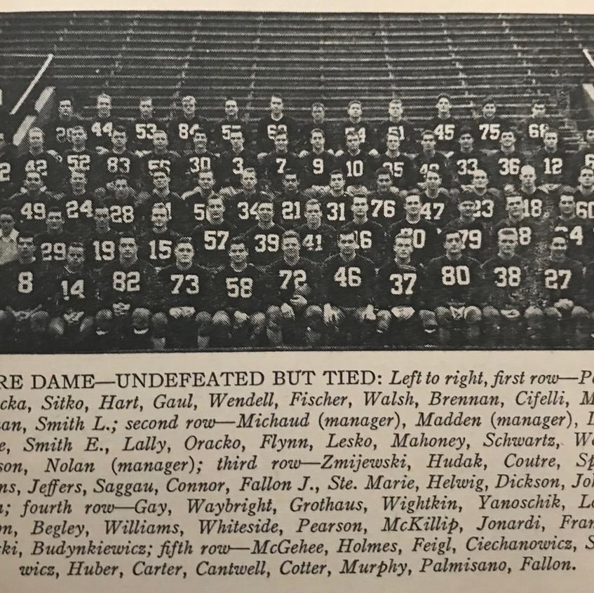 1948 Notre Dame Team Photo