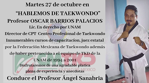Martes 27 de octubre en  HABLEMOS DE TAE