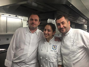 Jazlyn Baltazar with Chefs Oger and Di G
