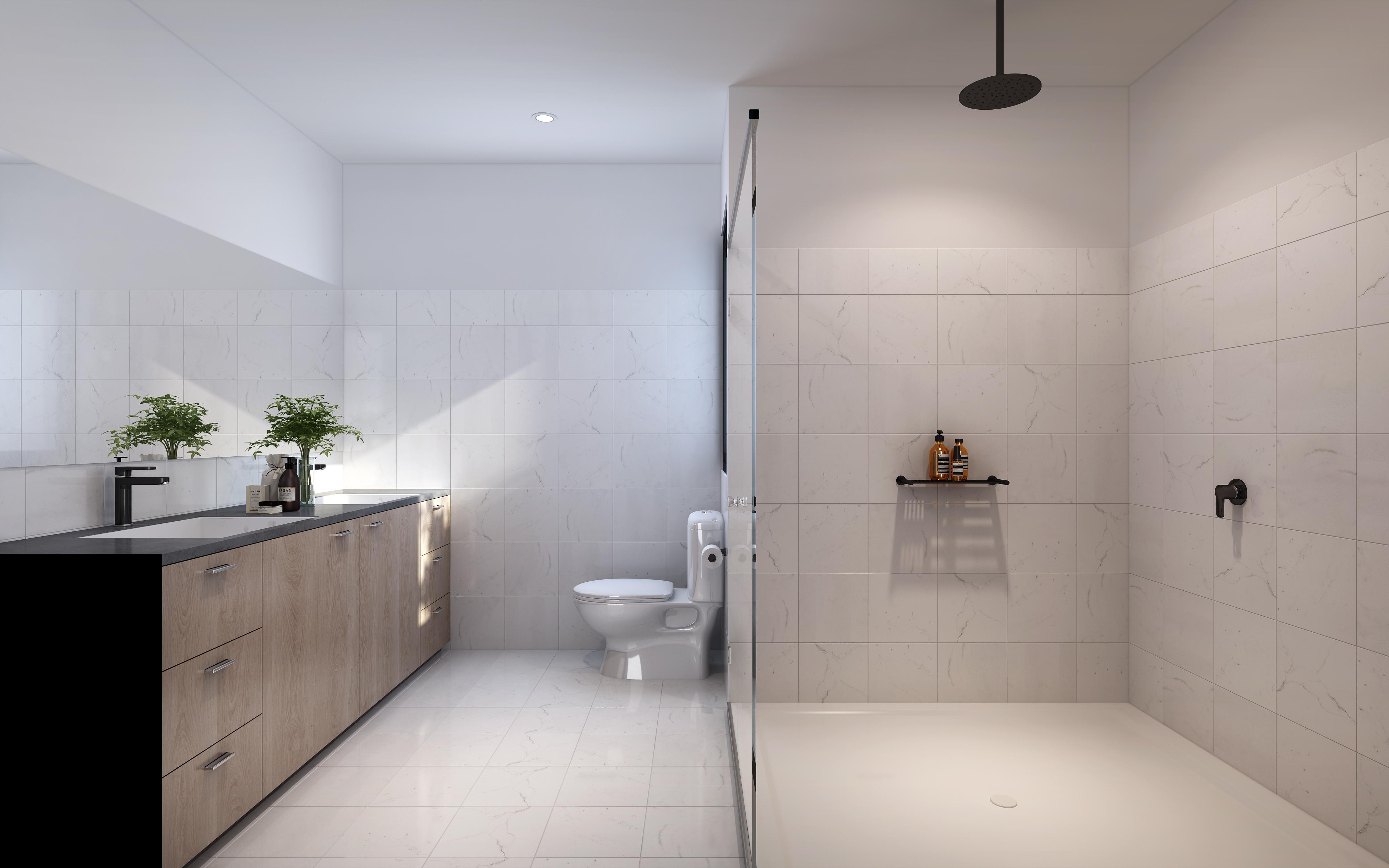 Standard Townhouse Bathroom Area