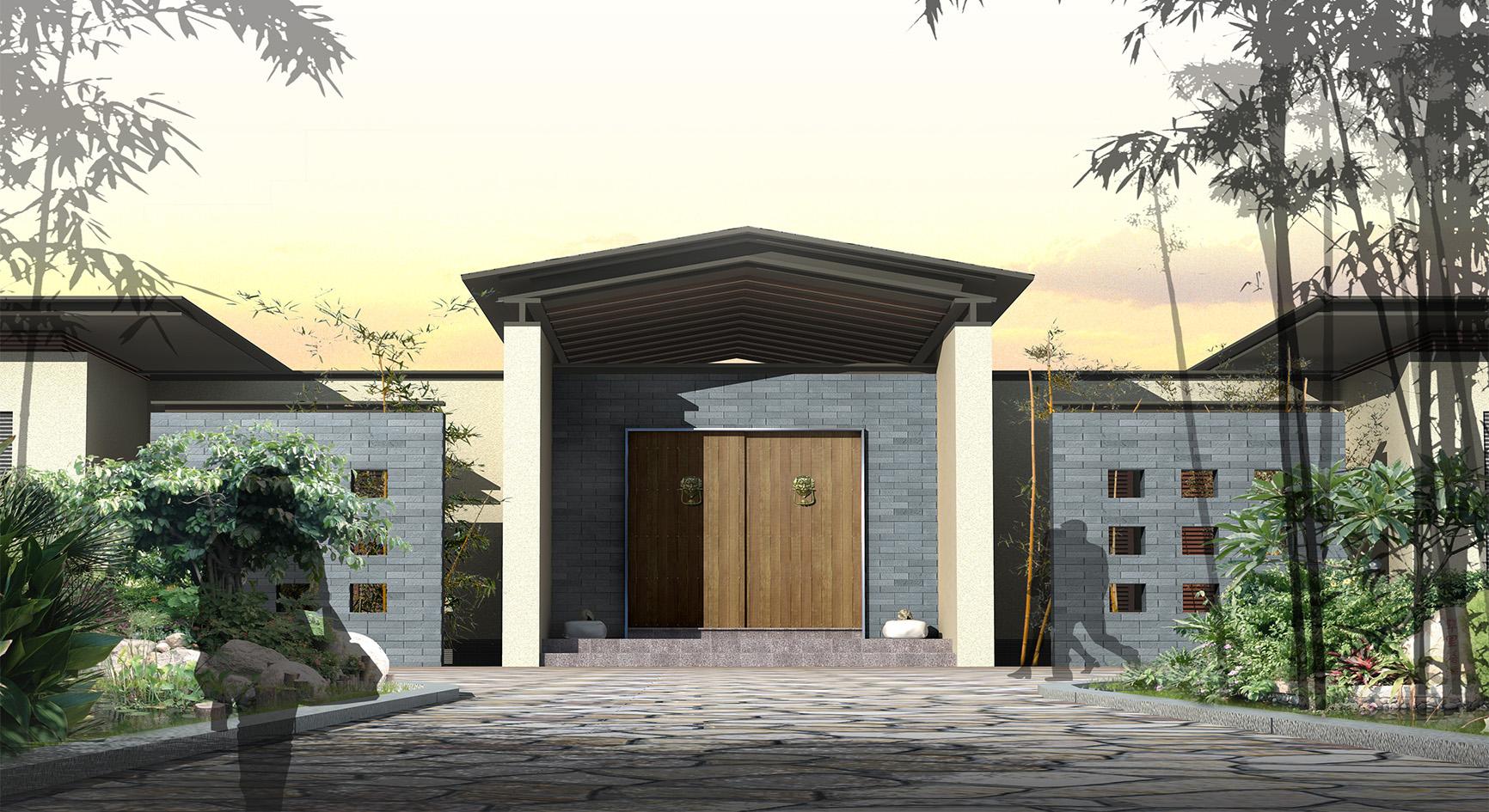 Asian Front Entry & Garage Doors