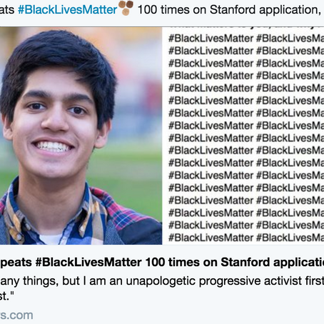 #BlackLivesMatters written 100 times gets student accepted into Stanford