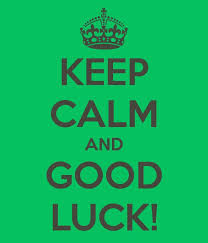 Keep calm & good luck in your Earlies...and don't wait until the last minute to submit them!