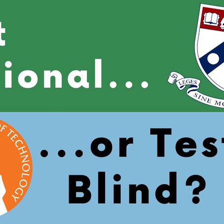 Test Optional does not mean Test Blind