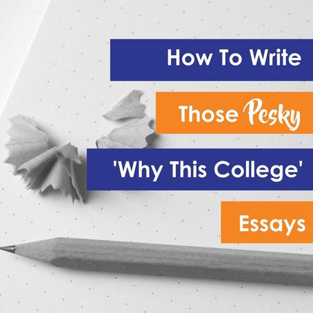 "How to write the ""Why [name]?"" essay?"