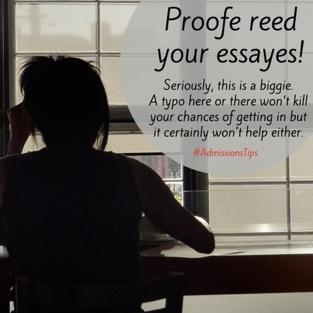 Proofe reed your essayes!