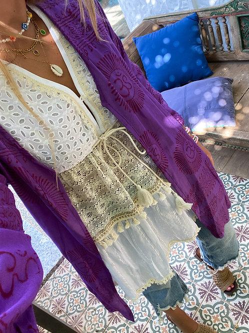 Kimono pareo morado