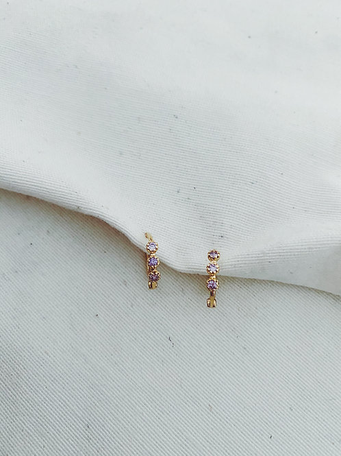 Tri diamantes lila
