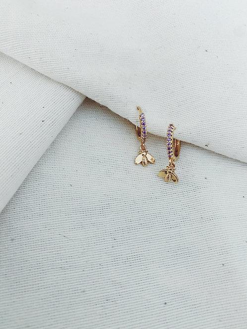 Mariposa diamante lila