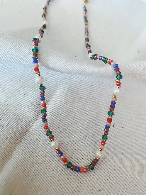 Choker perlas y colores