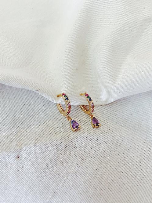 esmeraldas multicolor lila