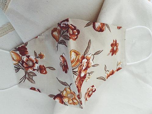 Mascarilla flores otoño