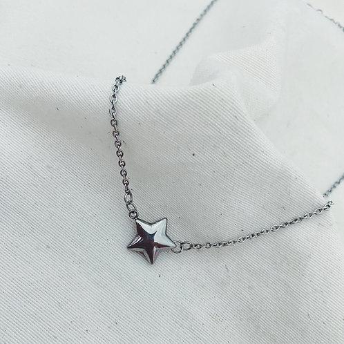 Estrella gruesa plata