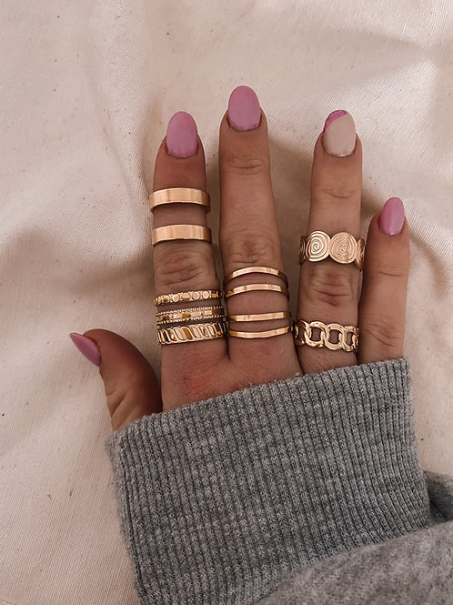Pack 5 anillos flores