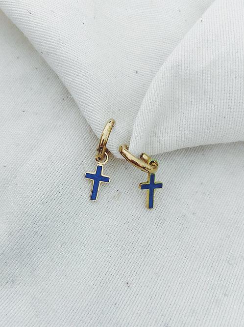 Cruces azul eléctrico
