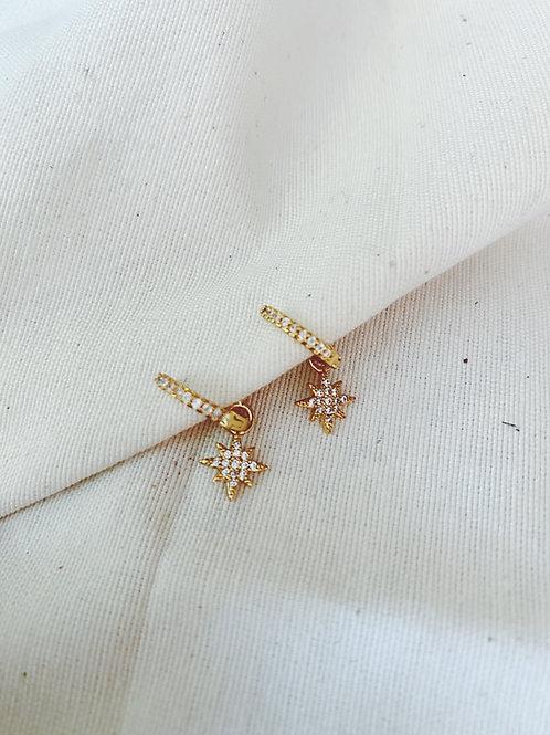 Estrella brillos blanco