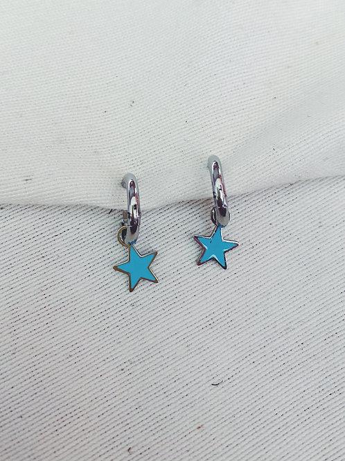 Estrellas azules plata