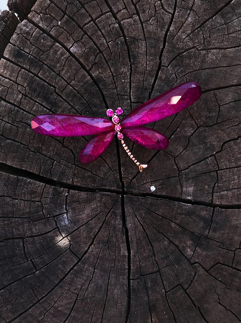 Libélula rosa