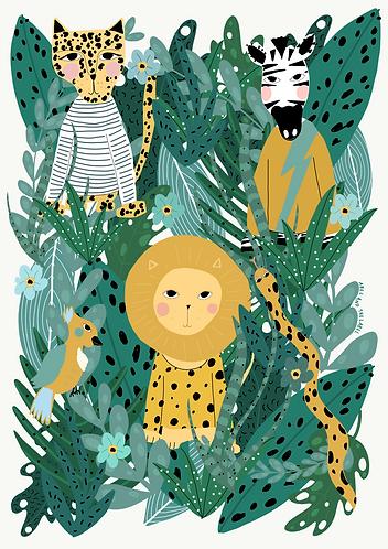 Jungle Friends Print
