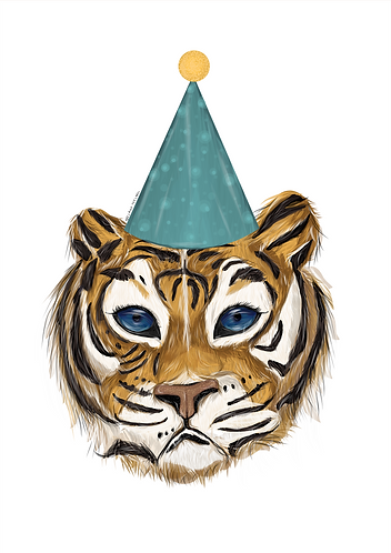 Terrance The Tiger Party Print