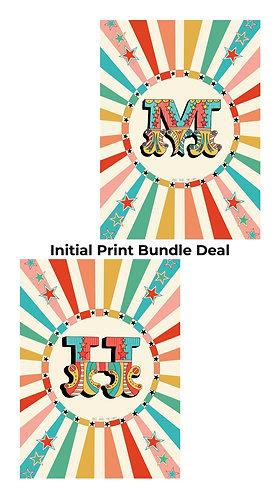 Personalised Circus Initial Print Bundle Deal