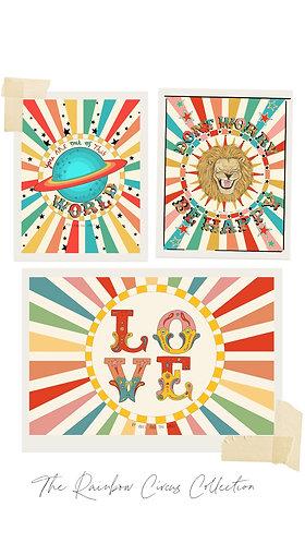 Rainbow Circus Art Print Bundle Deal