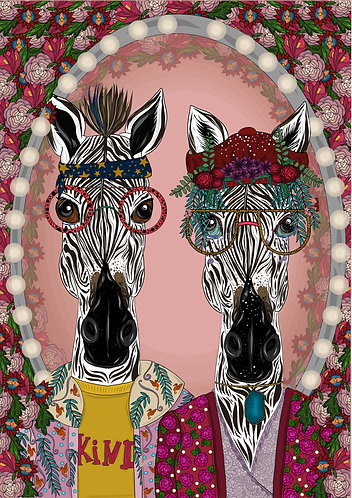 Children's Ziggy Zebra Art Print