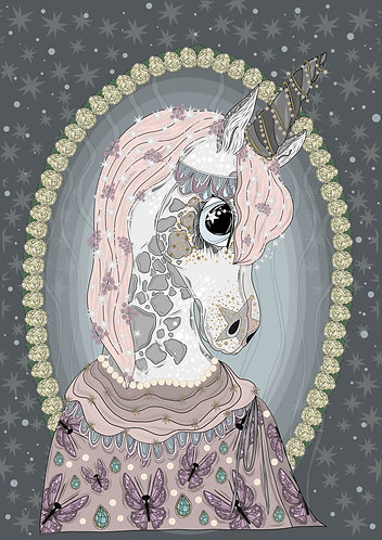 Una The Unicorn Art Print