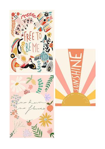 Pretty Positivity Art Print Bundle