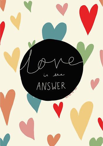 Love Is The Answer Rainbow Art Print