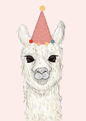 Lucille the Llama Art Print