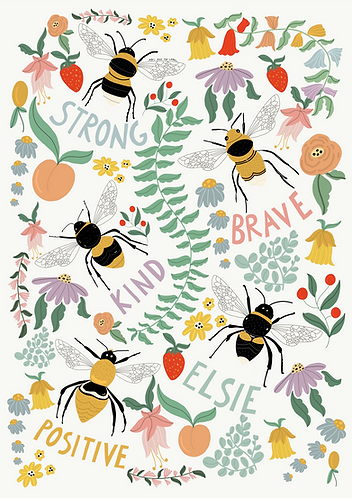 Personalised Positive Bee Print