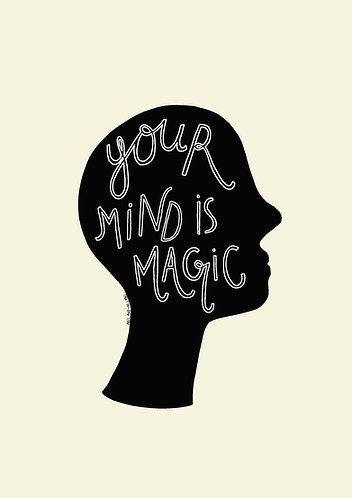 Your Mind is Magic Cream Background - Art Print