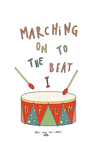 March To The Beat I Drum Art Print