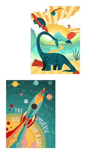 Space World Art Print Bundle