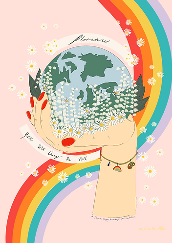 Personalised 'You Can Change The World' - like Florence Art Print