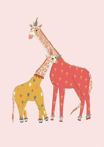 Funky Giraffe Art Print