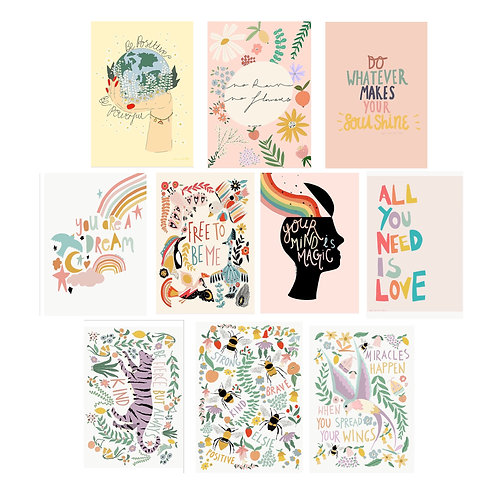 Positivity Postcards Pack - Pretty And Positive