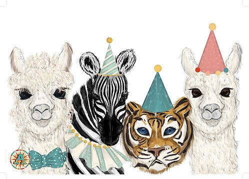 Limited Edition Party Animals Signed and Numbered A3 Print