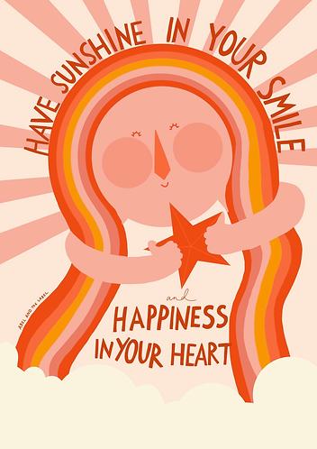 Sunshine In Your Smile Art Print