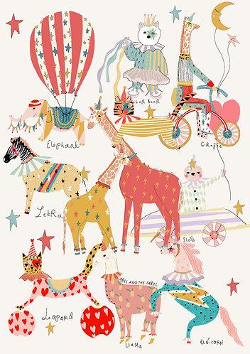 Jazzy Animal Art Print