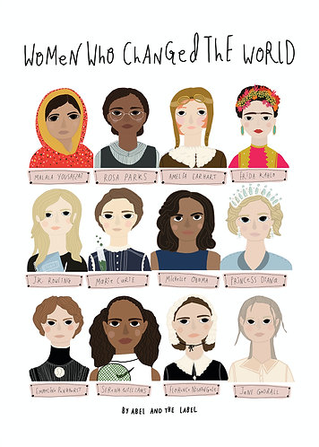 Women Who Changed The World Art Print