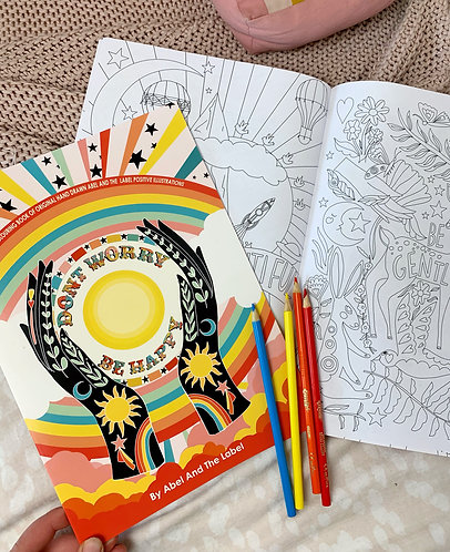 Don't Worry Be Happy Colouring Book