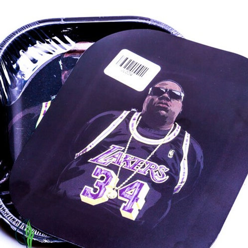 B.I.G LAKERS JERSEY - SMALL METAL ROLLING TRAY WITH MAGNETIC LID