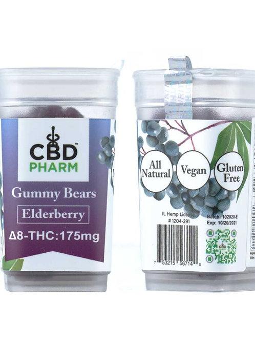 CBD Pharm Elderberry Delta 8 Gummy Bears