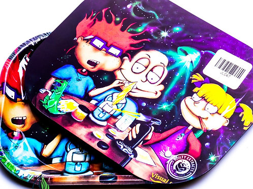 RUGRATS - SMALL METAL ROLLING TRAY WITH MAGNETIC LID