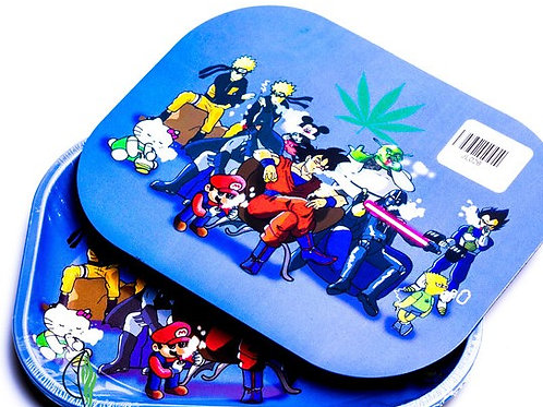 CHARACTER COUNCIL - SMALL METAL ROLLING TRAY WITH MAGNETIC LID